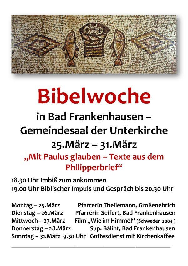 Bibelwoche Bad Frankenhausen 2019
